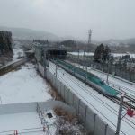 北海道新幹線が通過