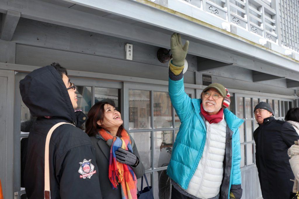 観光バス『冬の江差号』のテスト運行に乗車しました
