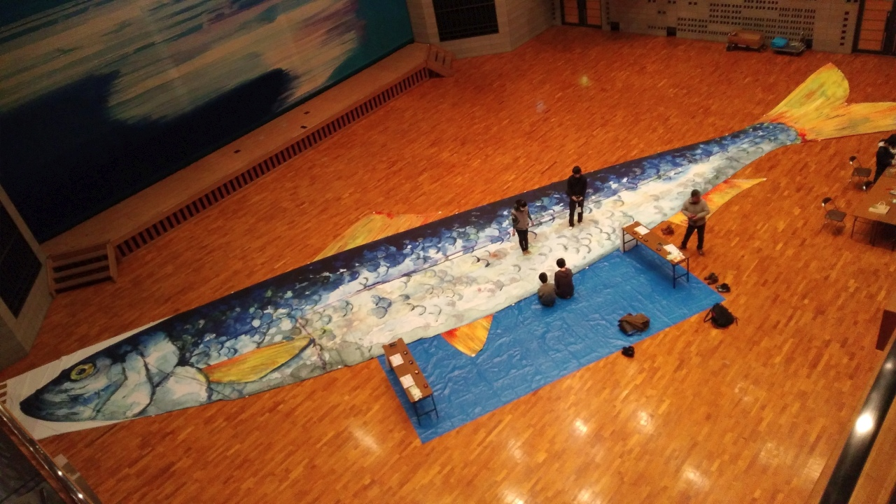 札幌チカホで日本遺産PRイベント開催! 江差町の巨大ニシンのぼりが札幌初登場!