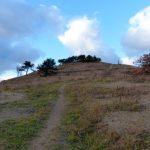 勝山館ガイダンス施設駐車場から見た山頂