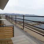 津軽海峡が間近のテラス
