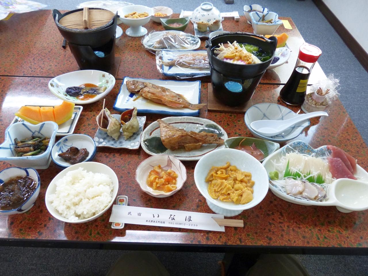 海の幸尽くしの夕食