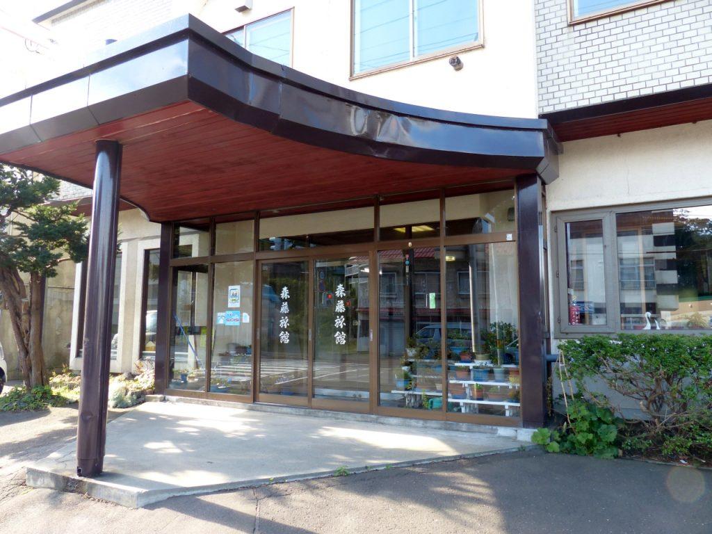 旅館の入口