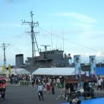 島中心部の奥尻港で開催