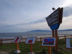 サラキ岬の先端 この沖に咸臨丸が眠る
