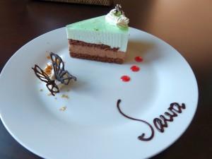 日替わりケーキ 今回はチョコミントムースケーキ