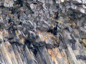 岩肌の形が上部と下部で異なる