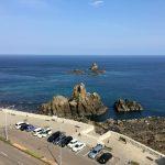 眼下にイカリカイ島が望める。天気が良ければ津軽半島や下北半島も。